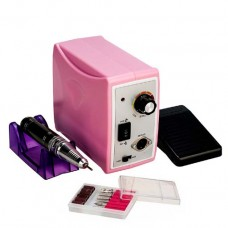 Профессиональный фрезерный аппарат для маникюра и педикюра ZS-701, 65 Ватт, 50000 об., розовый