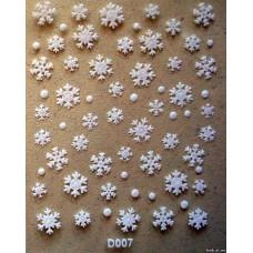 Снежинки D007
