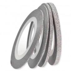 Лента-хром, серебро, 1 мм