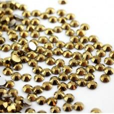 Кристалы Gold Hematite ss3 для маникюра, 100 шт