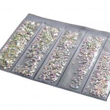 Кристаллы AB MIX для маникюра, 1440 шт