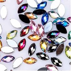 Кристалы для ногтей Микс, 20 шт