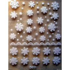 Снежинки D011