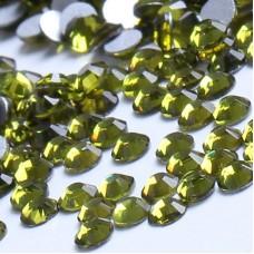 Кристалы Olivin (оливковые) ss3 для маникюра, 100 шт