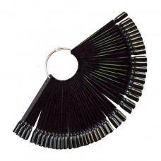 Дисплей для лака на кольце 50 шт (черный)