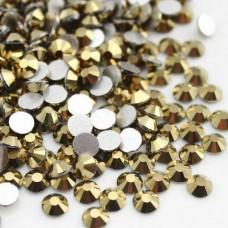 Кристалы Gold ss3 для маникюра, 100 шт