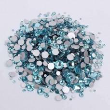 Кристаллы Аквамарин ss3-ss12, 1440 штук
