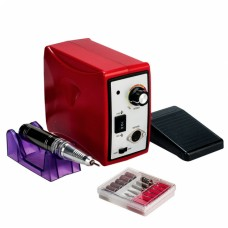 Профессиональный фрезер для маникюра и педикюра ZS-701, 65 Ватт, 50000 об., красный
