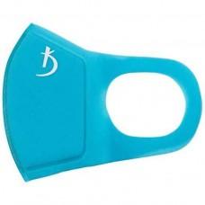 Маска защитная двухслойная из неопрена без клапана, голубая с логотипом