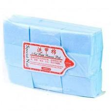 Безворсовые салфетки плотные, голубые, 600 шт (4х6 см)