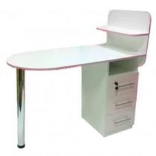 Маникюрный стол Овал, складная столешница, белый