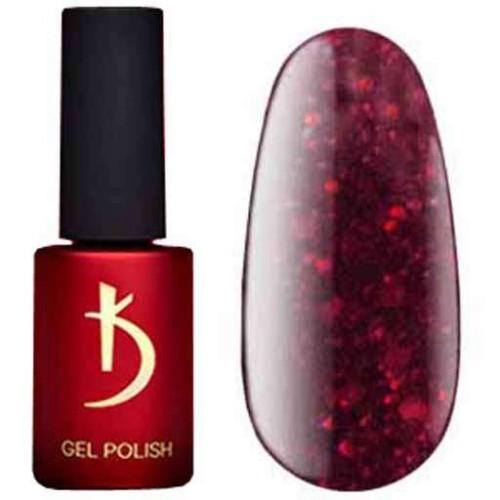 Гель лак Kodi № 210SH, 7 мл - глубокий красный цвет с глиттером и шиммером