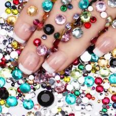 Кристалы цветные Mix, разного размера, 11 грамм