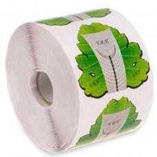 Формы для наращивания ногтей, зеленый лист, 100 шт.