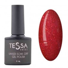 Гель-лак Tessa 9 мл № 042 - красный с микроблеском