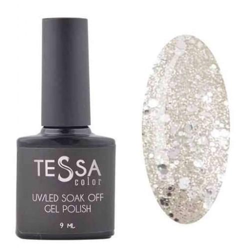 Гель-лак Tessa 9 мл № 104 - серебро с блестками