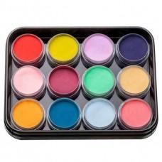 Набор цветной акрилово пудры KODI Professional 12 шт. L-1 (1-12)