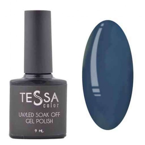 Гель-лак Tessa 9 мл № 086 - серо-синий