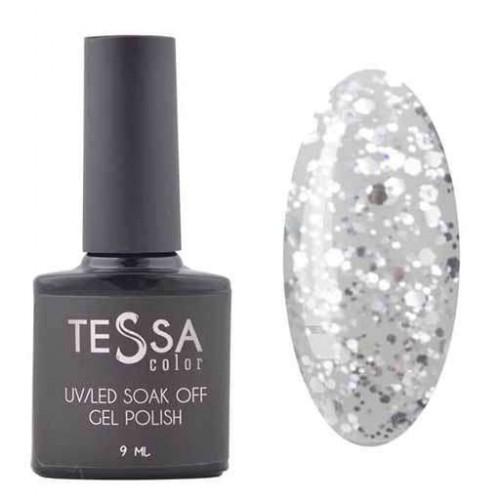 Гель-лак Tessa 9 мл № 097 - серебро с крупными блестками