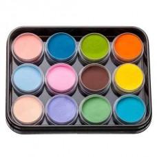 Набор цветной акриловой пудры KODI Professional 12 шт. L-4 (37-48)
