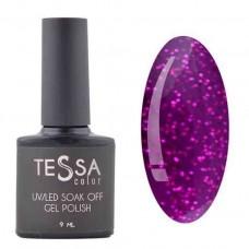 Гель-лак Tessa 9 мл № 047 - фиолетовый с блестками