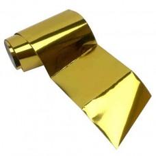 Переводная фольга для дизайна ногтей 1 м - золото
