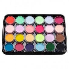 Набор цветной акриловой пудры KODI Professional 24 шт. L-1 (1-24)