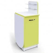 Маникюрный стол Практик компакт складной, с цветным фасадом