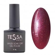 Гель-лак Tessa 9 мл № 040 - бордовый с шиммером