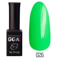 Гель лак GGA Professional 10 мл № 026