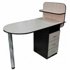 Маникюрный стол Овал, складная столешница, капучино