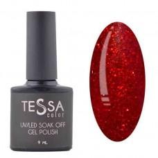Гель-лак Tessa 9 мл № 041 - красный с шиммером