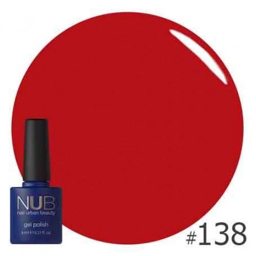 Гель-лак NUB № 138 CASUAL RED, 8 мл