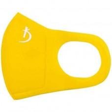 Маска защитная двухслойная из неопрена без клапана, желтая с логотипом