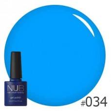 Гель-лак NUB № 034 THE BLUE LAGOON, 8 мл
