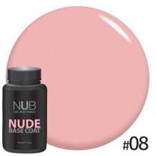 База камуфлирующая NUB NUDE Rubber Base Coat 30мл # 08